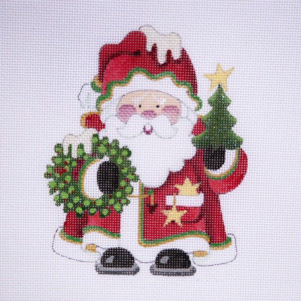 Welcome to Strictly Christmas Needlepoint Designs - Squatty Santas